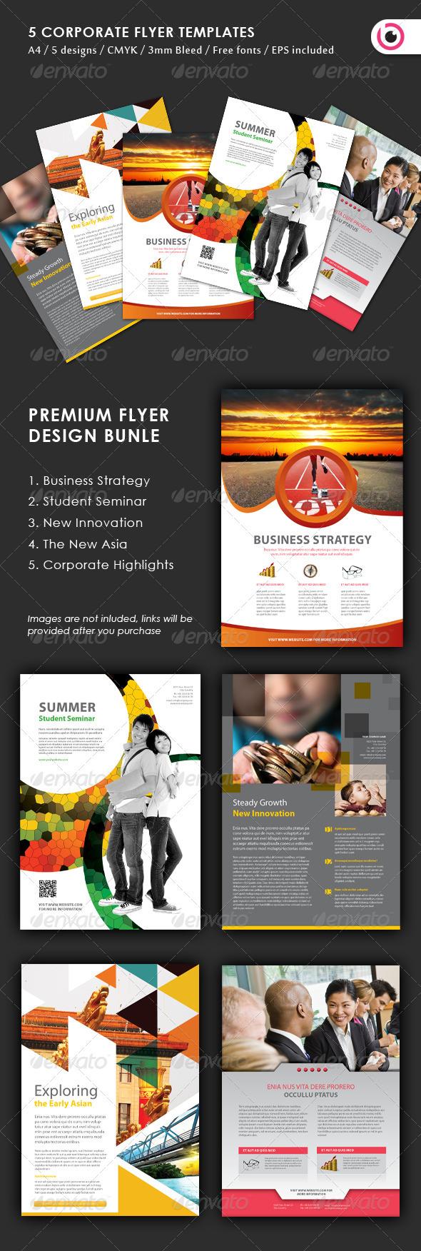 GraphicRiver 5 Flyer Design Templates 3370157