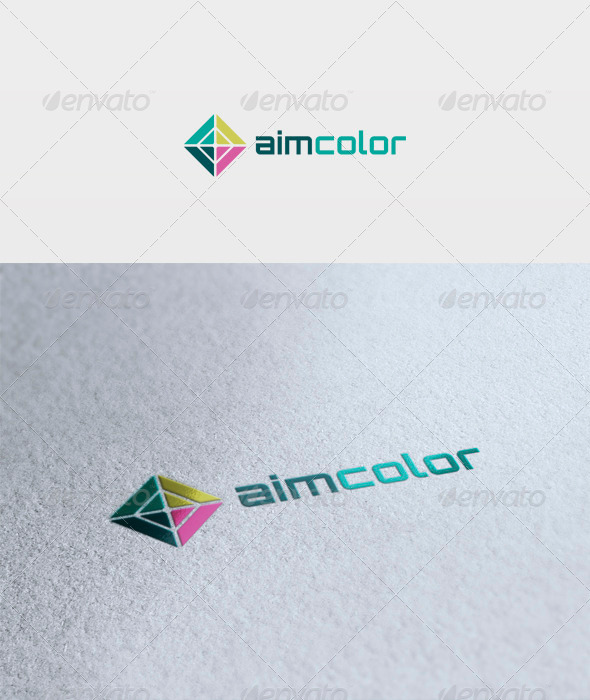 Aim Color Logo - Vector Abstract