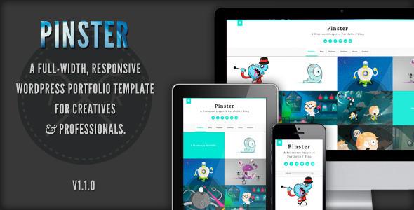 ThemeForest Pinster Full Width Portfolio WP Theme 3238562