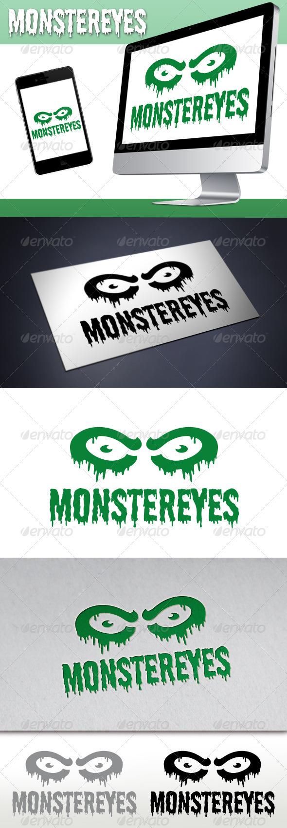 GraphicRiver Monster Eyes Studio Logo 3252320