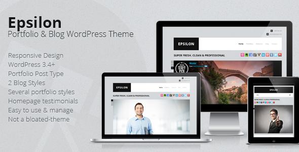 ThemeForest Epsilon Corporate Portfolio & Blog WordPress Theme 3370850