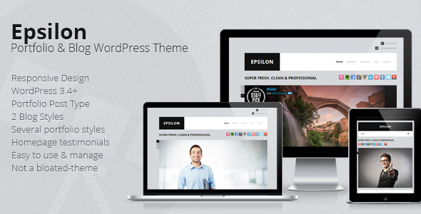 Epsilon Corporate Portfolio & Blog WordPress Theme