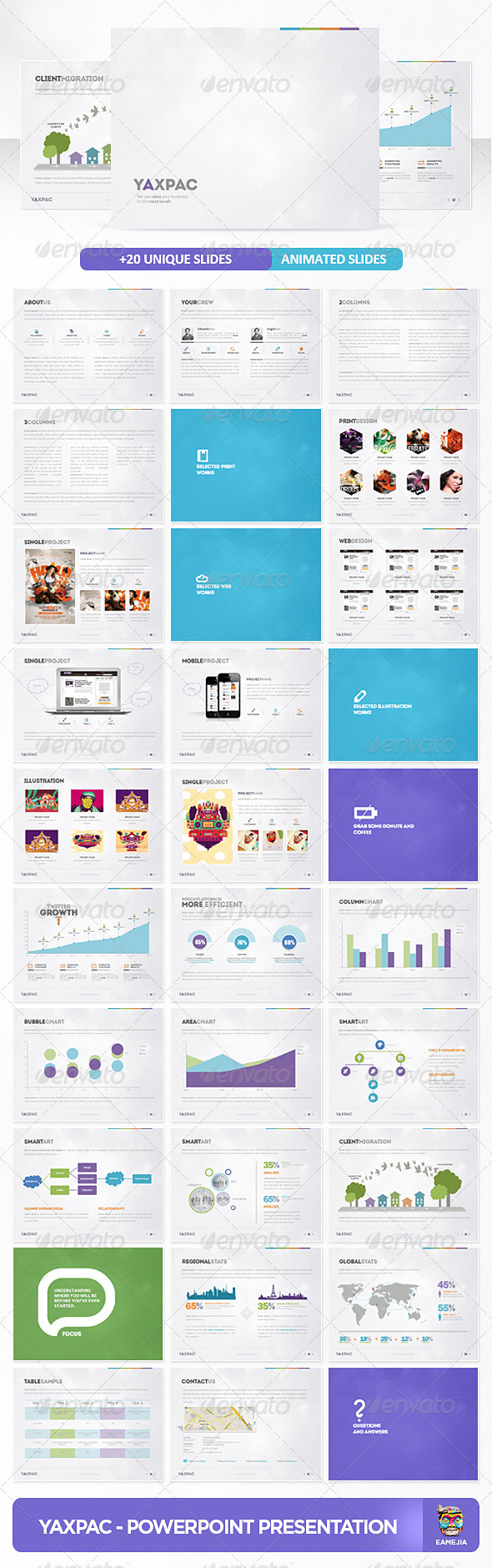 GraphicRiver Yaxpac PowerPoint Presentation Template 3370925