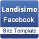 Landisimo Facebook Site Template - ThemeForest Item for Sale