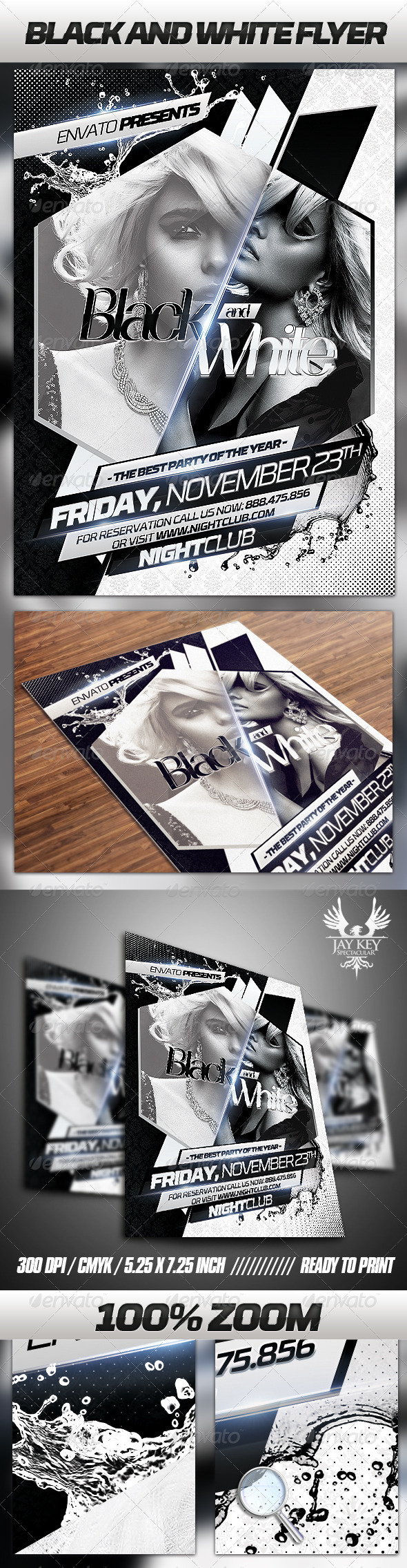 GraphicRiver Black and White Party Flyer 3371131