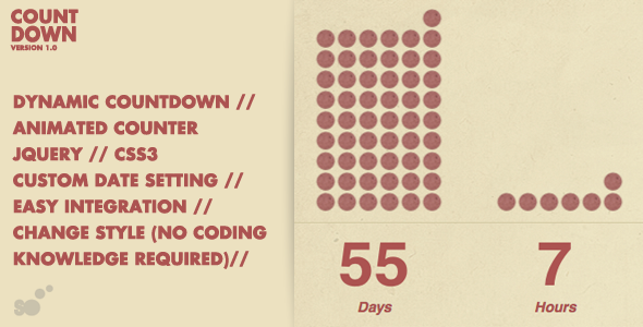 Dynamic Countdown with Counter - CodeCanyon Item for Sale