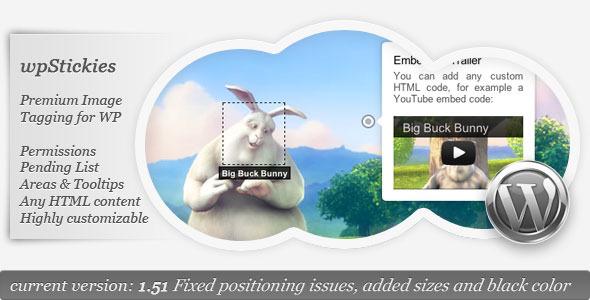 CodeCanyon wpStickies The Premium Image Tagging Plugin 2796237