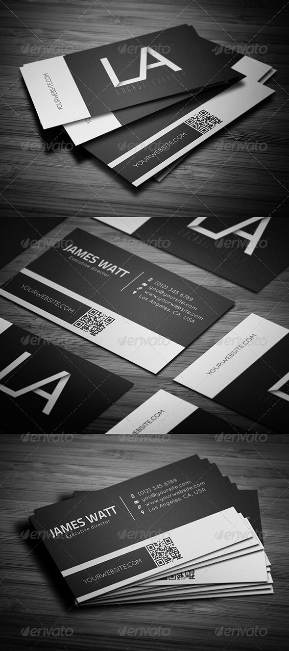 GraphicRiver White Line Business Card 3336386