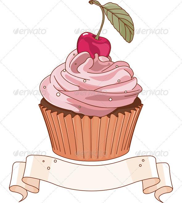 GraphicRiver Beautiful cupcake 3372143
