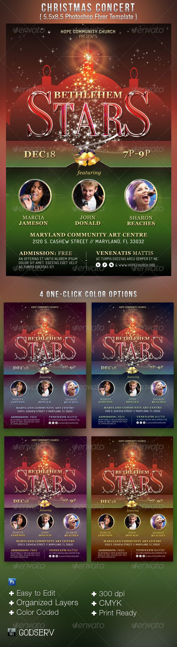 GraphicRiver Christmas Concert Flyer Template 3372351