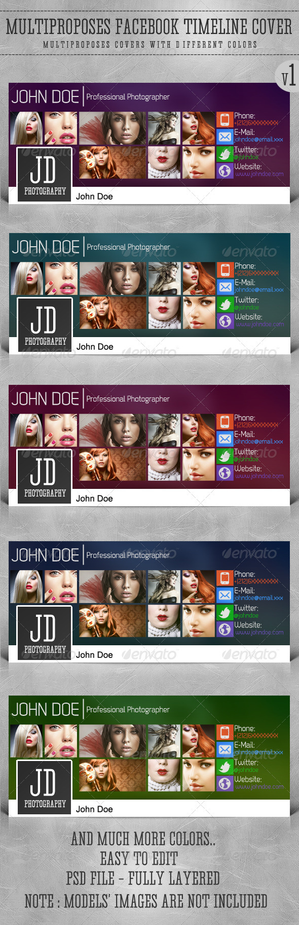 GraphicRiver Multiproposes FB Timeline Cover 3372395