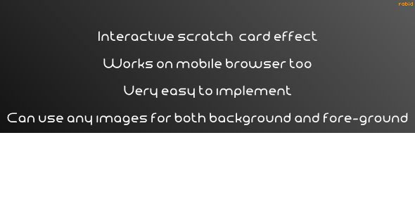 HTML5 Scratchcard Effect:Wordpress Plugin - CodeCanyon Item for Sale
