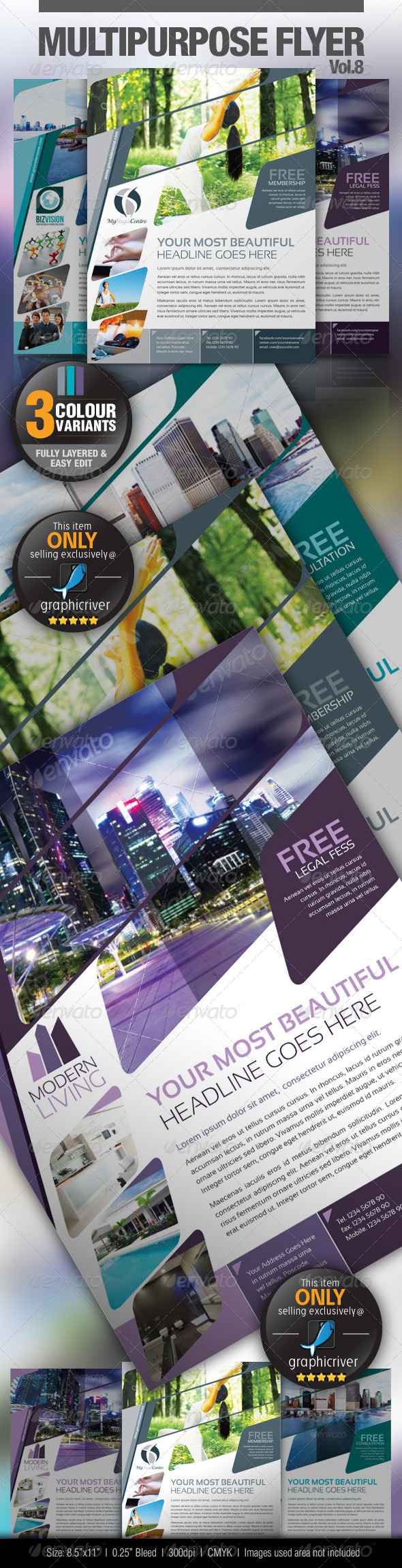Multipurpose Business Flyer Vol.8 - Miscellaneous Events