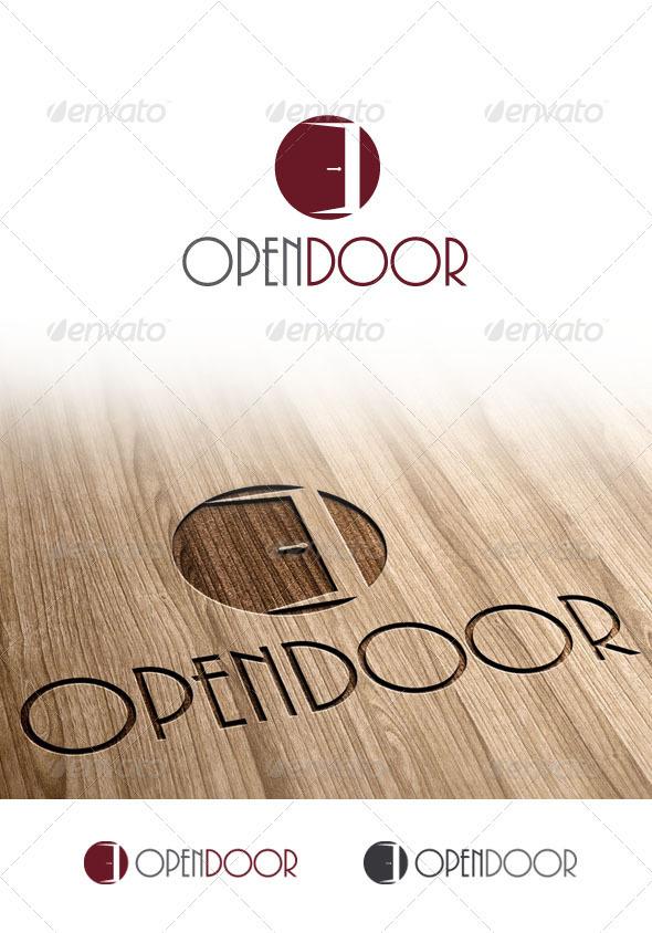 GraphicRiver Open Door Logo 3373291