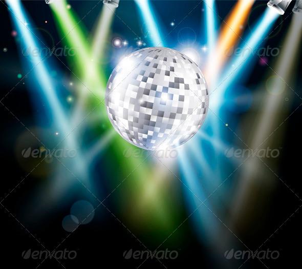 GraphicRiver Disco mirror ball background 3373509