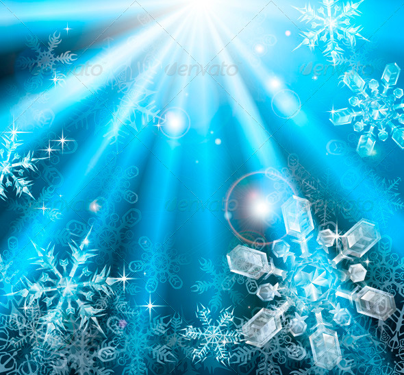 Christmas snowflakes background - Christmas Seasons/Holidays