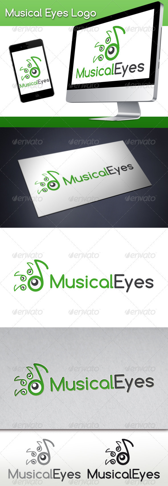 GraphicRiver Musical Eyes Logo 3373253