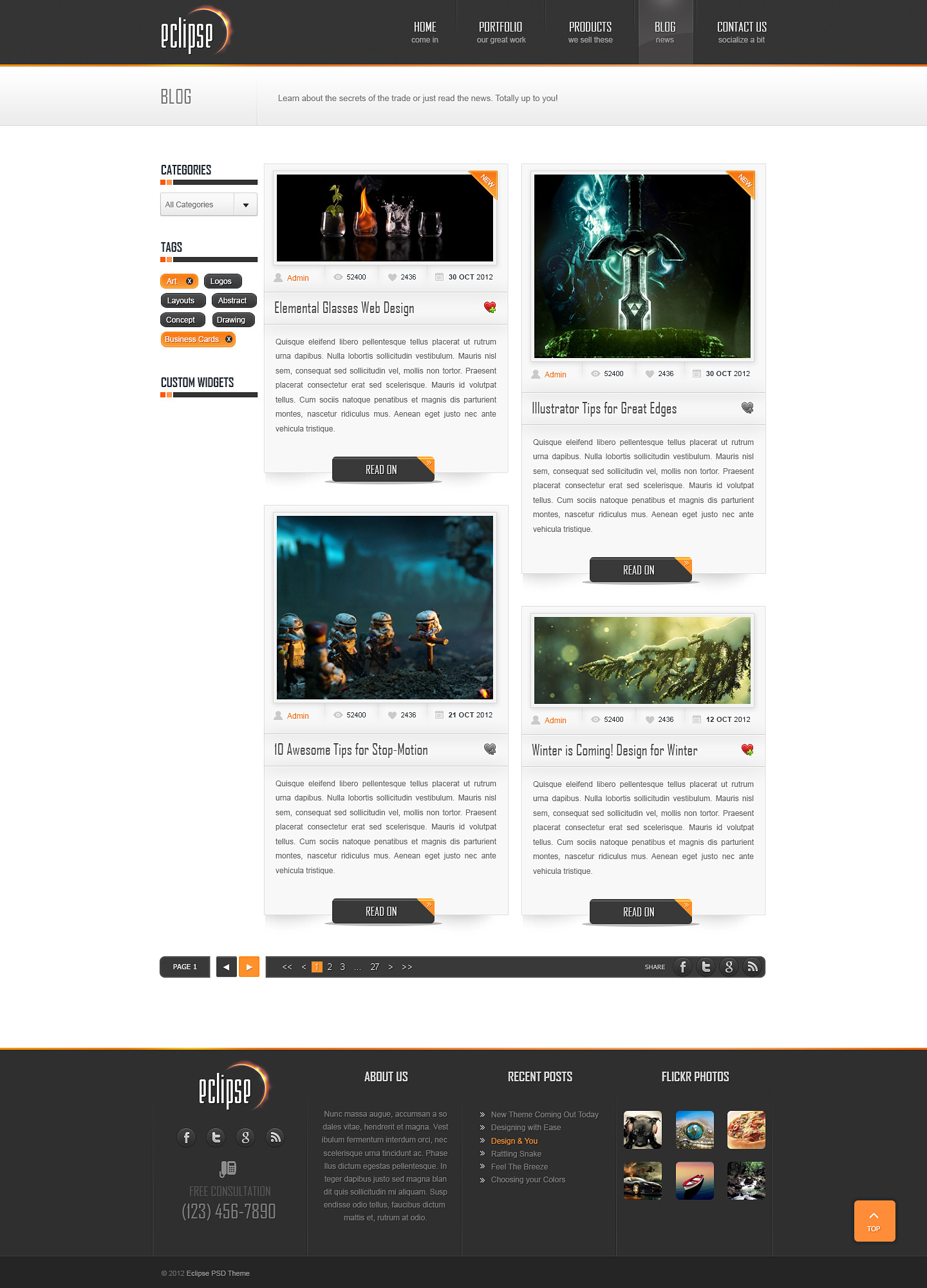 Eclipse - Premium PSD Template