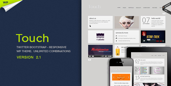 ThemeForest Touch Responsive & Bootstrap WordPress Theme 3018559