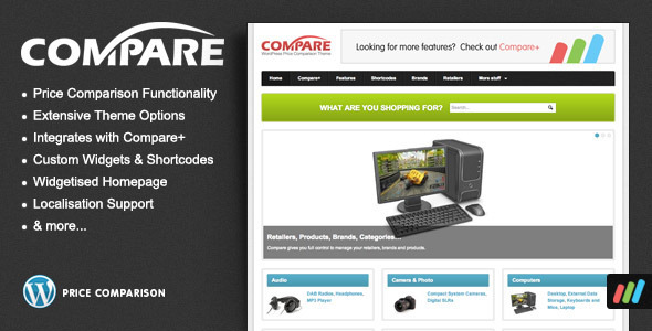 ThemeForest Compare Price Comparison Theme for WordPress 1707604