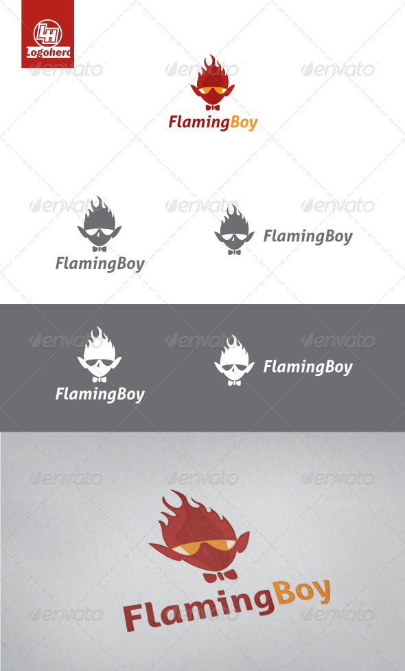 Flaming Boy Logo Template - Humans Logo Templates