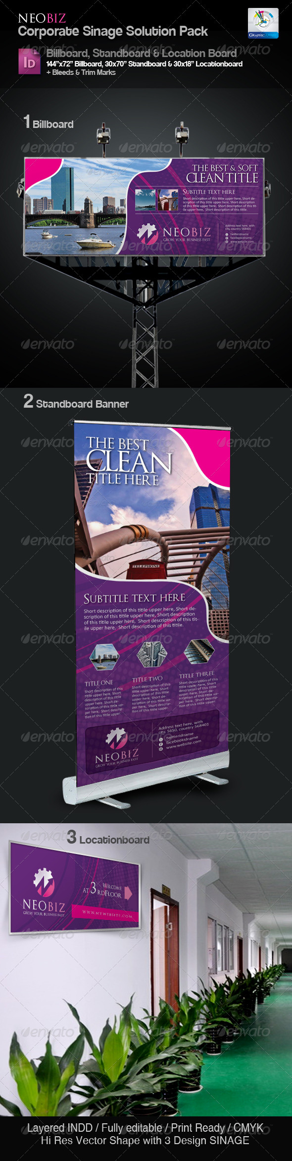 GraphicRiver NeoBiz Clean Sinage Solution Pack 3373971