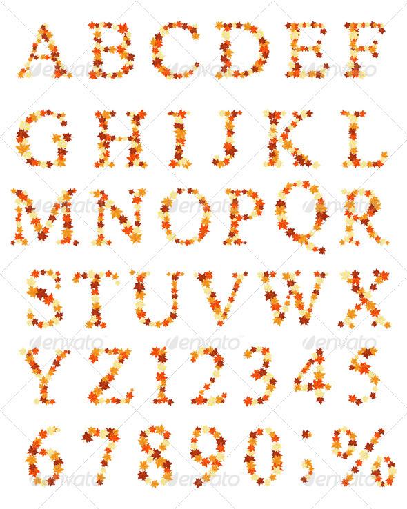 GraphicRiver Maple Alphabet 3374382