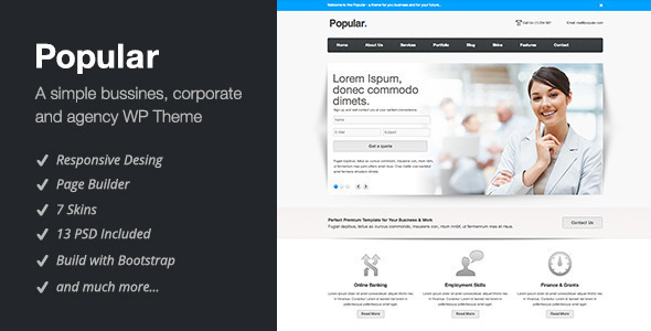 ThemeForest Popular Responsive WordPress Theme 3122174