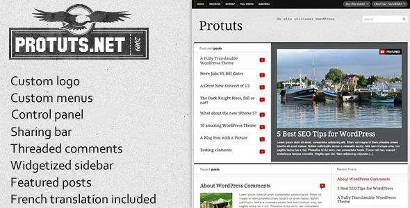 ThemeForest Protuts Magazine WordPress Theme 3264615