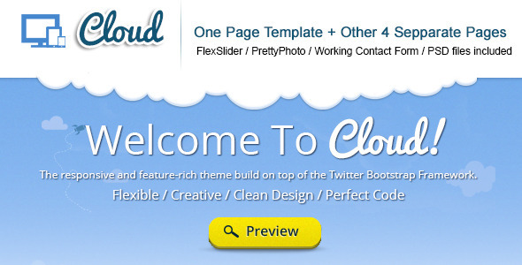 ThemeForest Cloud Responsive TwitterBootstrap Theme 3374582