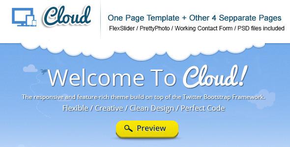ThemeForest Cloud Responsive TwitterBootstrap Theme 3374582