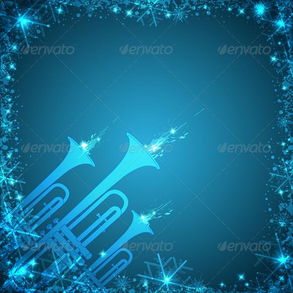GraphicRiver Blue Christmas Card 3374759