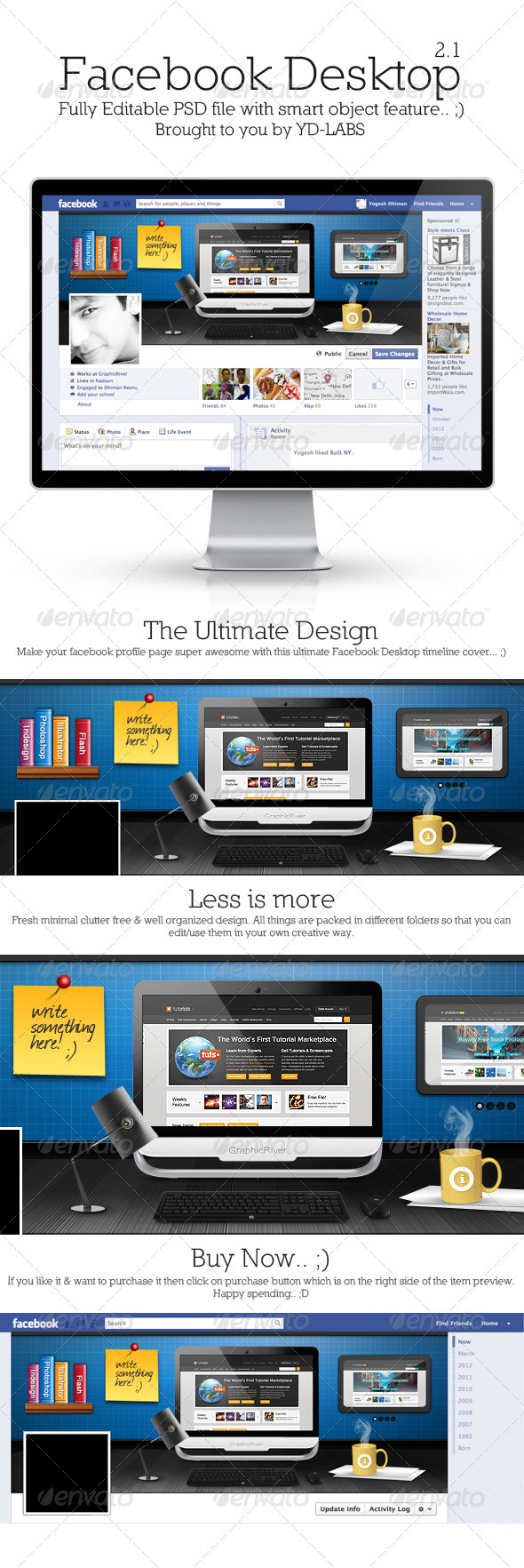 GraphicRiver FB Desktop 2.1 3375214