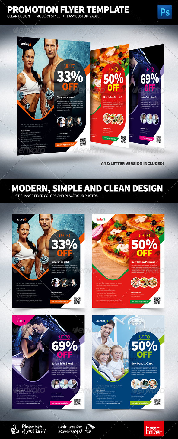 Multipurpose Promotional Flyer - Commerce Flyers