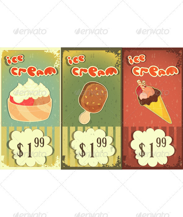 GraphicRiver Ice Cream Labels 3375511