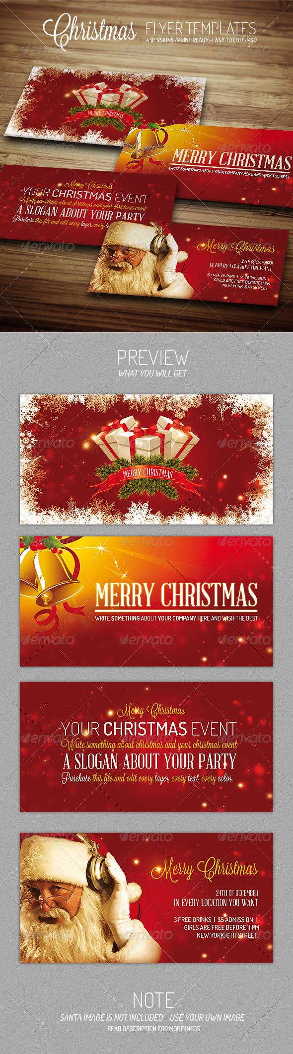 GraphicRiver Christmas III Flyer Template 3375597