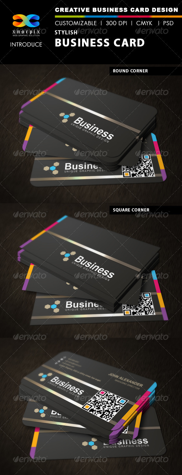 GraphicRiver Stylish Business Card 3375660