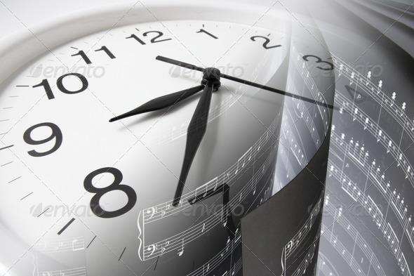 Music Score and Clock