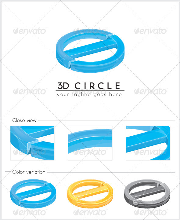 3d Circle Logo - Vector Abstract