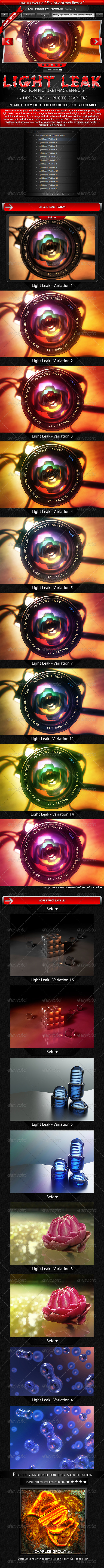 GraphicRiver Motion Picture Light Leak Effects 3375916