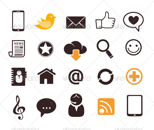 GraphicRiver Internet Communication Icon Set 3371802
