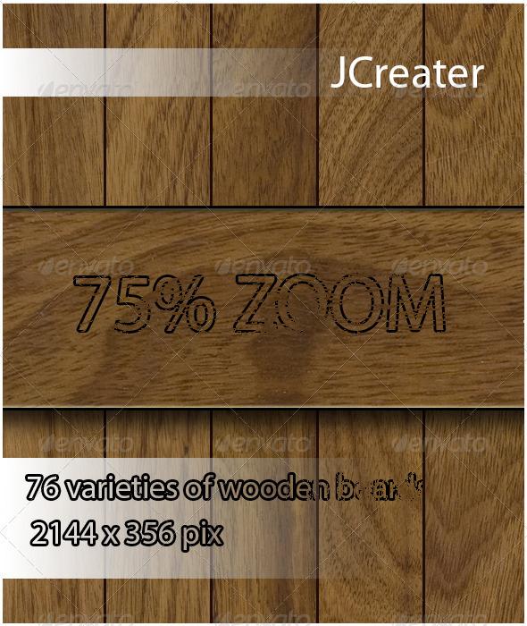 GraphicRiver 76 Varieties of Wooden Boards 3376192