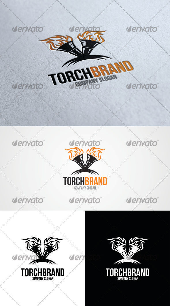 GraphicRiver Torch Brand Logo Template 3346129