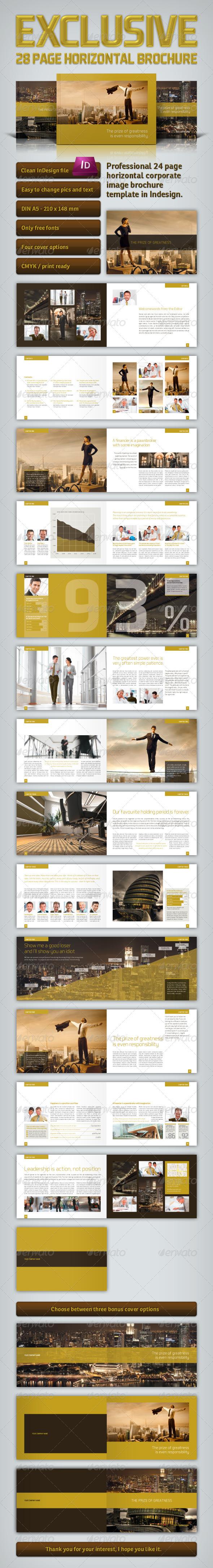GraphicRiver Exclusive Horizontal Brochure 3376473