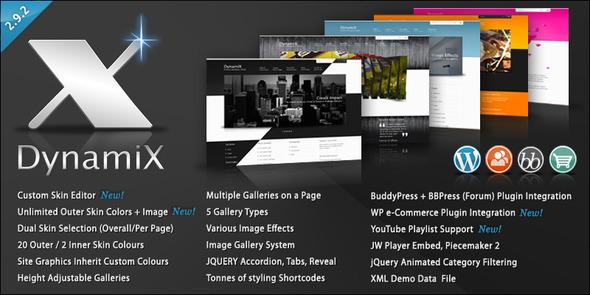 ThemeForest DynamiX Premium Wordpress Theme 113901
