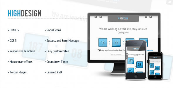 ThemeForest HighDesign Coming Soon Underconstruction Page 3297371