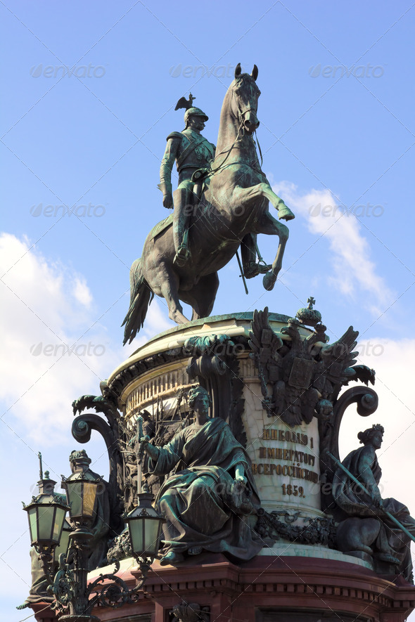 The monument to Nicholas I - Stock Photo - Images