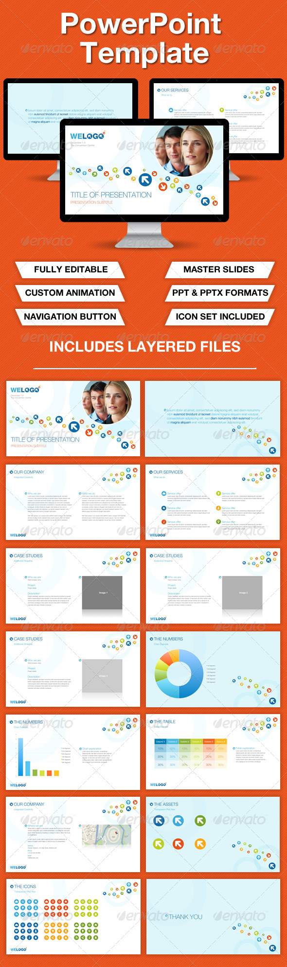 GraphicRiver Business Powerpoint Presentation 3360692