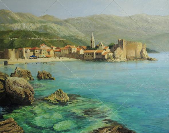 PhotoDune Bay Near Old Budva 3666121