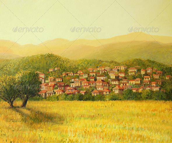 PhotoDune Golden Rural Sunset 3666116